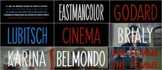 the title sequence from une femme est une femme (watchthetitles.com)