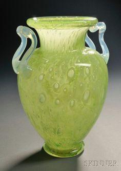 Attributed to Carder Steuben Cluthra Vase Lot Glass Ceramic, Glass Vase, Art Nouveau, Steuben Glass, Glas Art, Vases For Sale, Vaseline Glass, Window Art, Oil Lamps