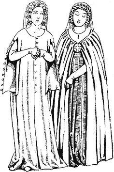Historie odívání - 14.století, část 4.