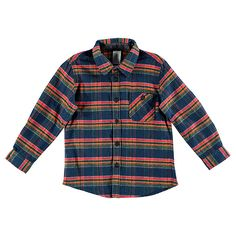5ff53572f Long Sleeve Flannelette Buffalo Check Shirt - Navy/Yellow/Red | Target  Australia Flannelette