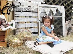 Country farm themed Easter (or spring) photo props & background.