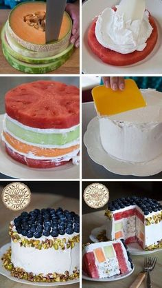 Cake made out of fruit! Great for those hot summer days!!