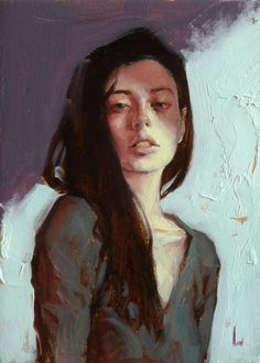"""garabating: """"""""Slink"""" by John Larriva on INPRNT (via inprnt) """" Figure Painting, Oil Painting On Canvas, Painting & Drawing, Oil Paintings, Abstract Portrait, Portrait Art, Pencil Portrait, Portrait Ideas, Figurative Art"""