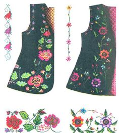 This Pin was discovered by zuh Hungarian Embroidery, Hand Embroidery, Folk Costume, Baby Dress, Knit Crochet, Sewing Patterns, Knitting, Womens Fashion, Cotton