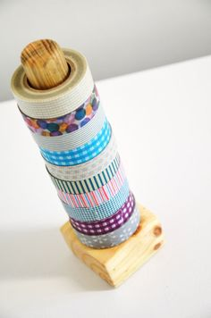 washi tape! holder what a good idea