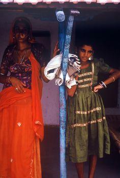 INDIA 1995 - Dintorni di Bikaner बिकाणो - Gente del Rajasthan  (foto G.Arcese)