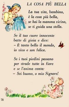 Italian Grammar, Italian Language, Italian Lessons, Everyday Prayers, Tongue Twisters, Kids Poems, Baby Images, Learning Italian, Reading Material