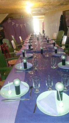 Anniversaire en famille - 7 ans Déco de table #violetta