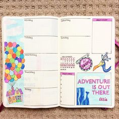 Up themed weekly layout    Here we go again! New #weeklyspread