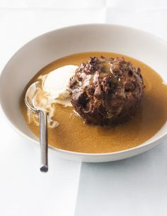 Sticky date pudding with caramel sauce - love the caramel sauce - I use a slightly different sticky date muffin recipe though