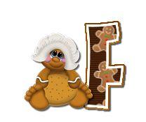 Alfabeto de galletas de jengibre con gorro de cocinero. | Oh my Alfabetos!