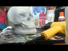 Plastic milk jug skulls