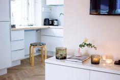 studio apartment, mini kitchen Mini Kitchen, Studio Apartment, Corner Desk, Furniture, Home Decor, Corner Table, Studio Apt, Decoration Home, Room Decor
