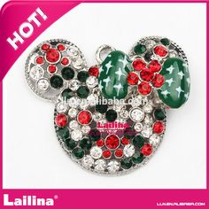 hot selling the Christmas Mouse head rhinestone pendant