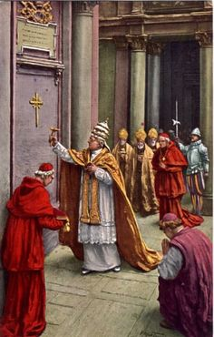 Pope Pius XI opens the Holy Door on Dec. 24, 1924