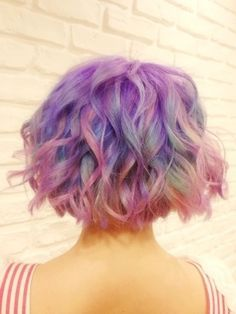 I want to call this like periwinkle or mystical hair style! So beautiful!