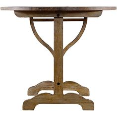 Curations Limited Provance Weathered Oak Side Table found on Polyvore