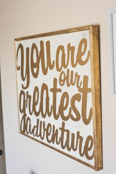 Top 10 Gold Nursery Decor - Project Nursery We love this gold wall art for a baby& room!
