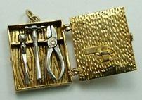 Toolbox Charm, Sandys Vintage Charms.