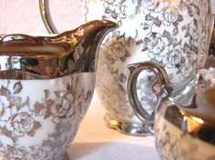 Bavarian Porcelain Silver Transfer-Lusterware