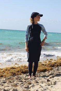 MOD cloth Modest Fashions Swim skirt with leggings Modest Active Swimwear Modest Swimsuits, Modest Dresses, Modest Outfits, Modest Swim Dress, Modest Clothing, Muslim Fashion, Modest Fashion, Cheap Fashion, Hijab Fashion