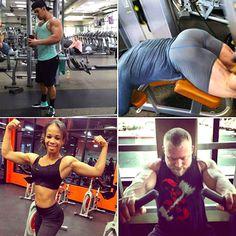 "This week's ""Caught workin' hard & lookin' good"" shots at Westfield Palm Desert! @Chace Fields Mike Kleeves Jasmine Parker #fitness #maxmuscle #nopainnogain #WorldGym"