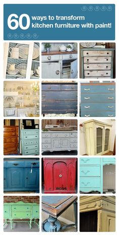 Don't Buy New Furniture- Save Tons & Just Paint it ! #60 DIY ways to transform kitchen furniture with paint!