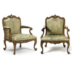 An important pair of George III carved and stained pine armchairs in the manner of Thomas Chippendale<br>Circa 1760   Lot   Sotheby's