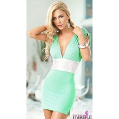 green dresses sexy | Sexy Clubwear Light Green Dress