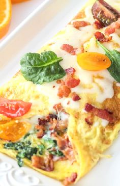 Low FODMAP Recipe and Gluten Free Recipe - Bacon, potato & cheese omelette