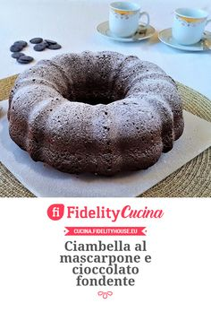 Ciambella al mascarpone e cioccolato fondente Torte Cake, Sweet Bread, No Bake Cake, Bagel, Doughnut, Cheesecake, Good Food, Sweets, Cookies