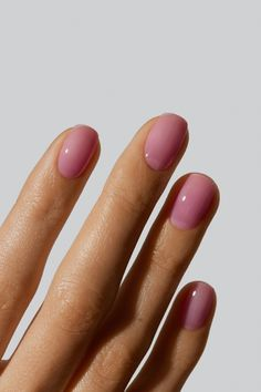 An OG Gelcare colour - one of the first we ever developed. This delicate, jelly, pink enhances the natural beauty of your nail while giving them a little punch. This colour is super versatile when it comes to how it is used! Gelcare products are free of 10 harmful chemical ingredients commonly found in nail polish. Made In Canada. Funky Nails, Cute Nails, Pretty Nails, Maila, Manicure Y Pedicure, Natural Nails, Natural Beauty, Natural Nail Polish, Minimalist Nails