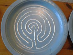 Flame: Creative Children's Ministry: Make your own finger labyrinths with paper plates and writing paint