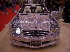 Blinged-out Benz. Future car. You'll see my driving down the road from outer space!!! Now get out of my way <3