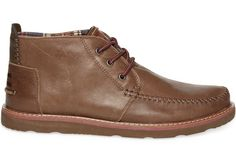 Chocolate Leather Men's Chukka Boots- maybe if Rob needs new shoes?