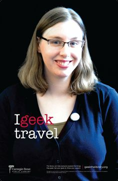 Sarah in Adult Services geeks travel