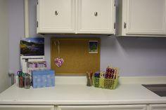 Organized play room.  Really craft room!