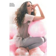 Polina Barbasova Elle Norway March 2010 ❤ liked on Polyvore featuring backgrounds, models, balloons, foto and girls