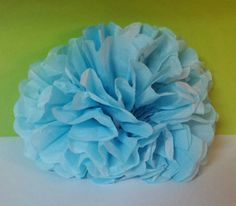 Set of 3 Tissue flowers DIY Birthday Party Baby Shower or Wedding Decor by KhloesKustomKreation on Etsy