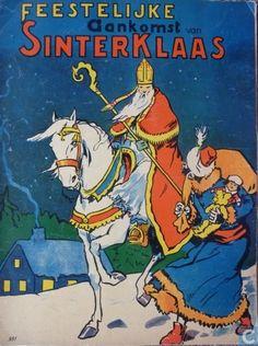 Feestelijke  aankomst van Sinterklaas, 1950
