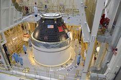 Primer módulo de tripulación Orión completado.