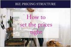 How to set retail prices for your product or service.