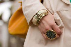 House of Harlow Sunburst ring & peacock bracelet
