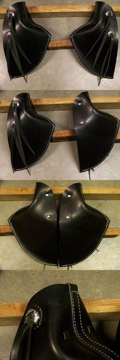 Other Western Tack 47301: Leather Saddle Tapaderos---Eagle Beak With Stirrups~~Adult Size~~Black Color -> BUY IT NOW ONLY: $170 on eBay!