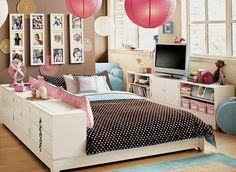 Tween girl bedroom ideas 28 cute bedroom ideas for teenage girl Teenage Girl Bedroom Designs, Girls Room Design, Bedroom Decor For Teen Girls, Teenage Girl Bedrooms, Teenage Room, Bedroom Ideas, Girl Rooms, Bedroom Wall, Bedroom Boys