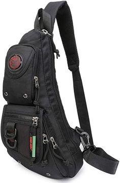 Amazon.com   Sling Backpacks, Sling Chest Bags Shoulder Fanny Pack  Crossbody Bags for Men Women Outdoor Travel Walking Dog Running (Black)    Casual Daypacks 6d7e2f1e3d
