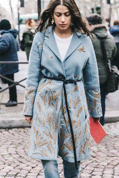 Pfw Paris Fashion Week Fall 2016 Street Style Collage Vintage Miu Miu Amanda…