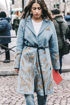 Pfw Paris Fashion Week Fall 2016 Street Style Collage Vintage Miu Miu Amanda…