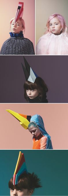 """Le Creative Sweatshop created these amazing head pieces for a feature in Junior Magazine..."""