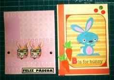 Cartões de Páscoa/ Barquinho de Papel Scrap